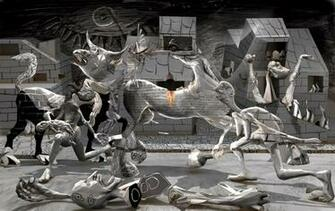 Guernica Painting In Color Guernica by polygonist