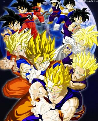 The Evolution of Goku and Gohan Colored by JamalC157