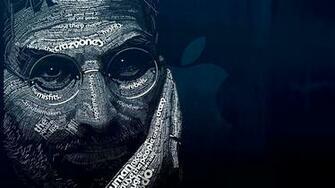 Steve Jobs Typographic Portrait Wallpaper for Desktop 4K 3840 x 2160