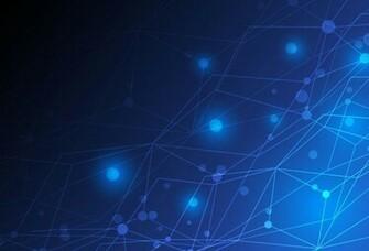 HI Tech technology light spot lines nodes