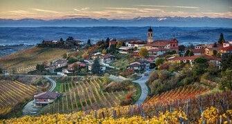 Italia Italy Piemonte Treiso landscapes wallpaper wallpapers and