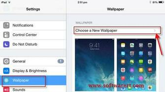 ipad wallpaper settings ios 8