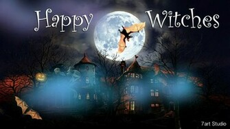 7art Happy Witches screensaver and live animated wallpaper for Windows
