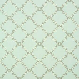 Thibaut Wallpaper Graphic Resource Stanbury Trellis T35120 Aqua