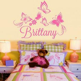 Flower Personalized Custom Name Vinyl Decal Beauty Girl Wallpapers