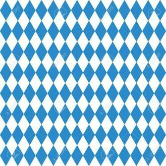 Oktoberfest Checkered Background And Bavarian Flag Pattern Royalty