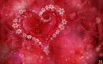 Beautiful 3d Valentine Flowers Love Heart Wildscreen Wallpaper E