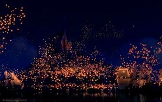 wallpaper Tangled dream flashlights castle desktop wallpaper