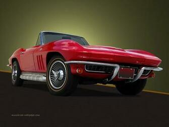 Red Corvette Wallpaper WallpaperToon