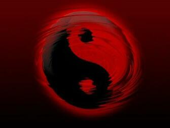 Black and Red Yin Yang