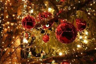 Bright Christmas lights HD Wallpaper