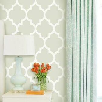 Home Products Modern Classic Green Removable WallPaper
