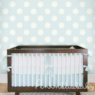 Polka Dot Off White Blue Removable Wallpaper pinknblueBaby