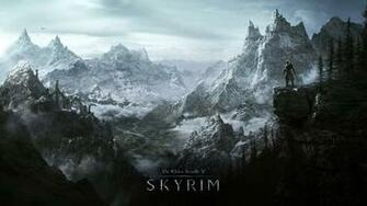 Skyrim World Rocks Winter Cold The elder scrolls v skyrim 4K