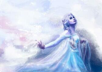 frozen snow queen elsa fantasy girl artwork mood wallpaper background