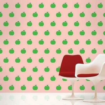 Home Christmas Gifts Apple Pink Green Removable Wallpaper