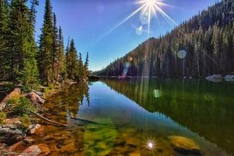 Download wallpaper Dream Lake Rocky Mountain National Park lake