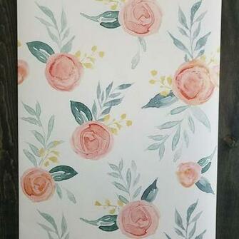 York Wallcoverings Magnolia Watercolor Artful Roses Farmhouse Etsy