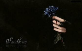 Dark horror fantasy gothic vampire blood flowers wallpaper 1920x1200