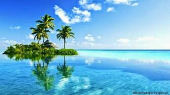 Tropical Island Paradise Wallpaper Wallpapers Background