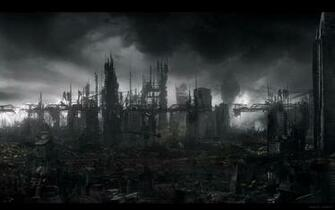 Destroyed City Backgrounds