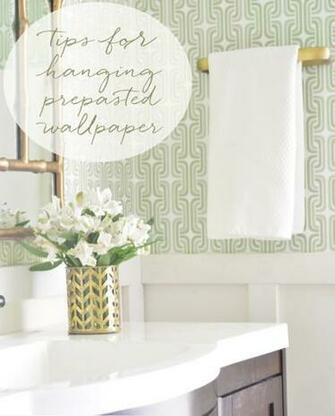 Centsational Girl Blog Archive Hanging Prepasted Wallpaper Tips