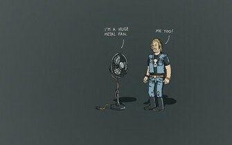 Metal Fan Funny Joke   Wallpaper 30683