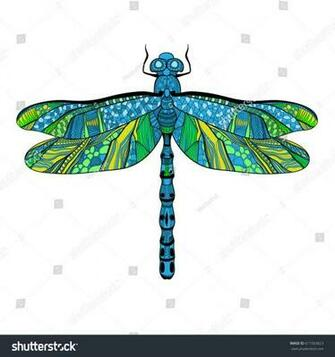 Beautiful Bright Dragonfly Concept Colorful Wings Stock Vector