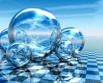 Desktop Wallpapers 3D Backgrounds Bubbles on Floor www