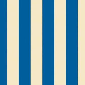 Stripe BlueCream Removable Wallpaper Half Kit   Wallpaper   by