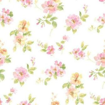 Chesapeake Captiva Pink Watercolor Floral Wallpaper Sample