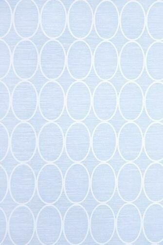 Wallpaper Pale blue wallpaper with geometric oval design in White