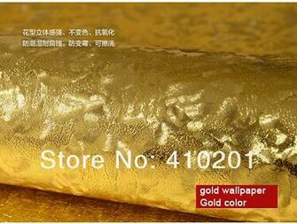 Gold wallpaper wall paper Big order Big Discount wallpaper roll