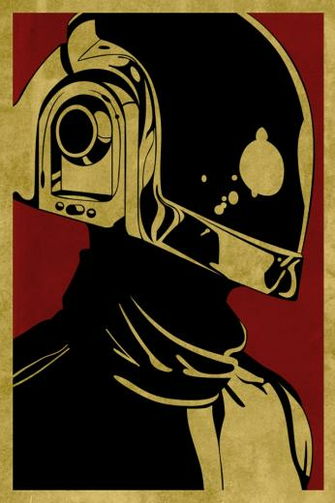 Obey Daft Punk   iPhone Wallpaper
