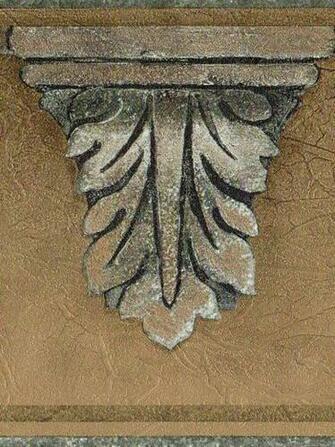 Crown Molding Gold Blue 60 Feet Only 20 Wallpaper Border 1015 eBay