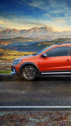 Wallpaper Volkswagen Saveiro Cross CE pickup orange Cars