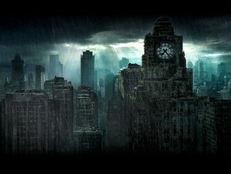 Rain in a destroyed city wallpapers and images   wallpapers pictures