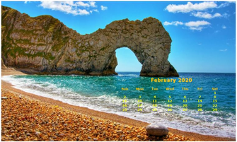 Monthly 2020 Desktop Calendar Wallpaper