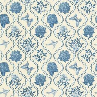 Blue Garden Theme Trellis Wallpaper Stuff to fill my future house