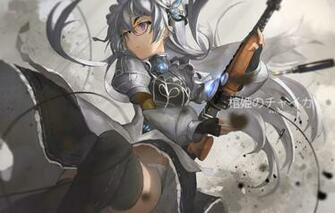 Wallpaper girl weapons anime art glasses feirla chaika
