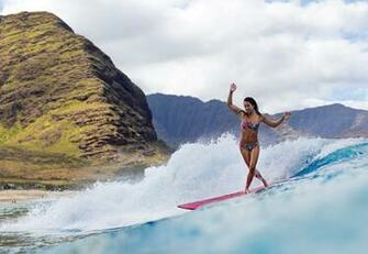 Surfing ocean girl surfing mountain r wallpaper 2407x1662 117561