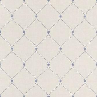 Blue Trellis Wallpaper Rose Bead Paste the Wall Lazy Sunday by Rasch