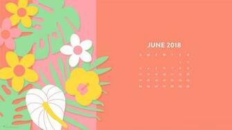 June 2018 Tropical Flowers Wallpaper   Sarah Hearts