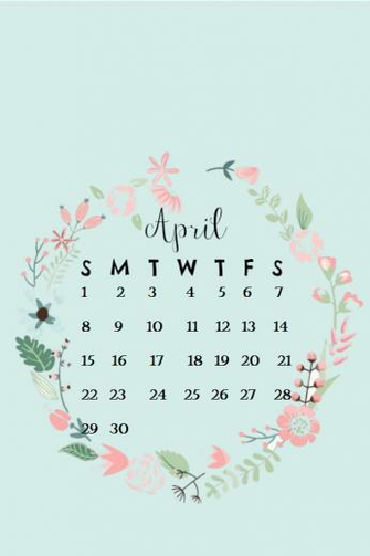 April 2018 iPhone Calendar Wallpaper MaxCalendars Calendar