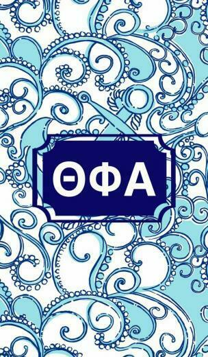 Theta Phi Alpha monogram background