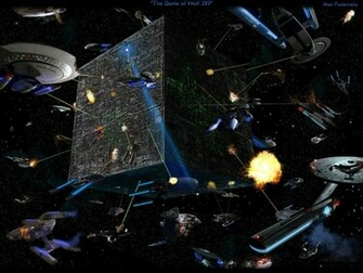 Download Deep Space Nine wallpaper Borg Wars Wallpaper