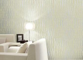 3D Silver Embossed Modern wallpaper Geometric Flocking Patterns Sofa
