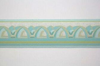 Aqua Blue Blue Green Arches Border Full Vintage Wallpapers Border