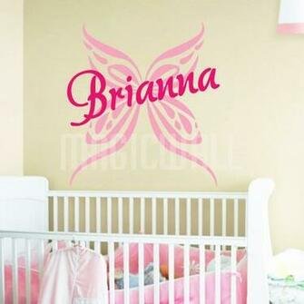 Home Butterfly Personalized Name Monogram Wall Decals Stickers