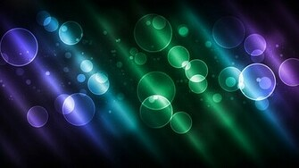 Wallpaper bubbles purple and green lines 3d widescreen 1366x768 on